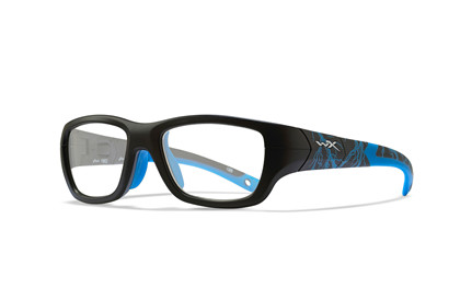 FLASH Clear Matte Black<br />Lightning/Electric Blue Frame