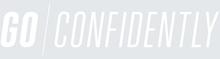 GO CONFIDENTLY Iron On Logo 280 mm<br />White