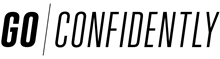 GO CONFIDENTLY Iron On Logo 280 mm<br />Black