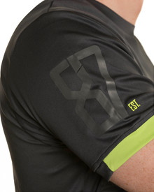 WX Active T-Shirt<br />Charcoal w Flash Green