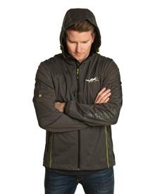 WX Premium Tech Jacket<br />Charcoal w Flash Green