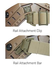 ARC Rail Attachment Clip & Bar<br />Set for RAS, Black