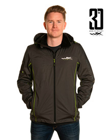 WX Premium Tech Jacket<br />Grey w Flash Green