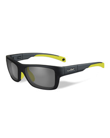 CRUSH Clear<br />Matte Grey/Neon Yellow Frame