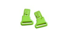 VICTORY Clips<br />Matte Black/Lime Green
