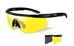 SABER ADV. Smoke/Yellow<br />Matte Black Frame w/Bag