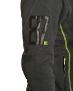 WX Premium Hoodie<br />Charcoal w Flash Green