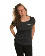 WX Women Active T-Shirt<br />Charcoal w Flash Green