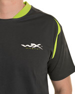 WX Premium T-Shirt<br />Charcoal w Flash Green