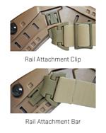 NERVE ARC <br>Rail Attachment System<br> RAS Strap for Helmets, Black