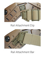 ARC Rail Attachment Clip & Bar<br />Set for RAS, Black