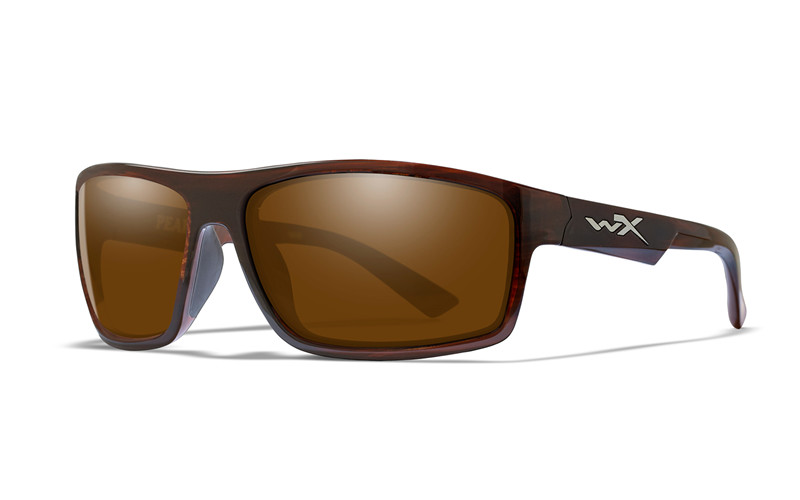 40f9418e7b PEAK Polarized Amber Gloss Layered Tortoise Frame - Wiley X EMEA LLC