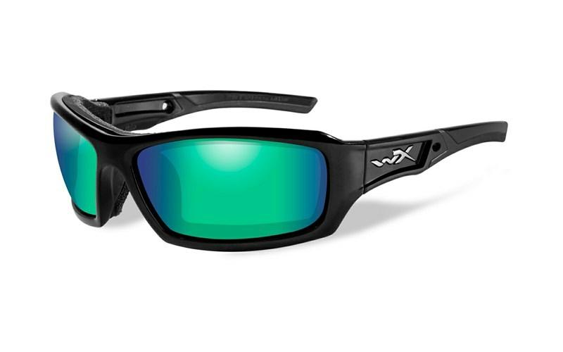 80ba9885f16 ECHO Polarized Emerald Mirror Gloss Black Frame - Wiley X EMEA LLC