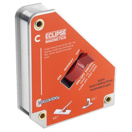 Eclipse svejsemagnet med ON / MIDWAY / OFF knap til let opsætning i 45° 90°