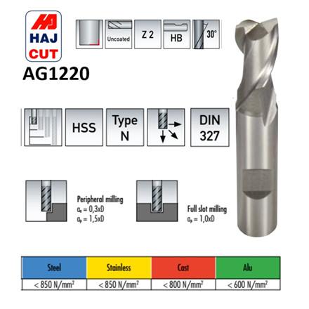 HAJ-CUT HSS 2-skærs endefræsere Ø1,0 - 20,0 mm