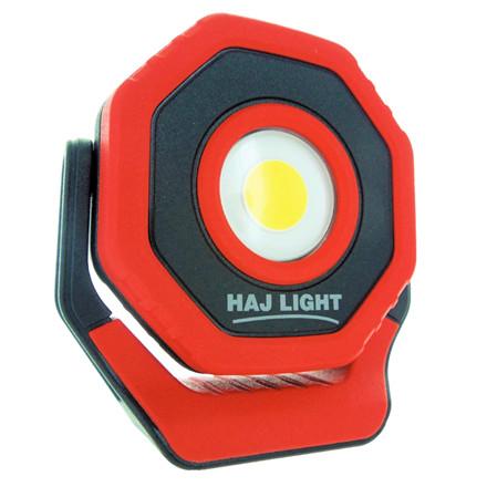 HAJ LIGHT Genopladelig mini-arbejdslampe 700 lumen Roterbar magnetarm, USB oplader, 3 lysstyrker