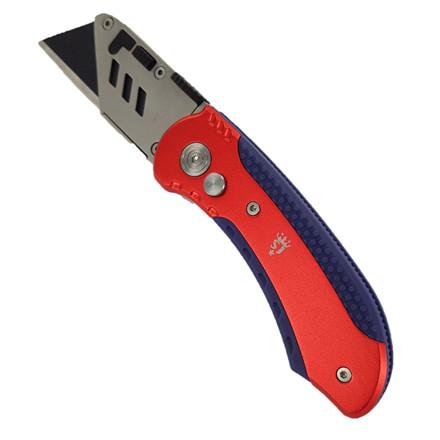 Spear & Jackson foldekniv hurtig bladskift - metalhus - softgrip