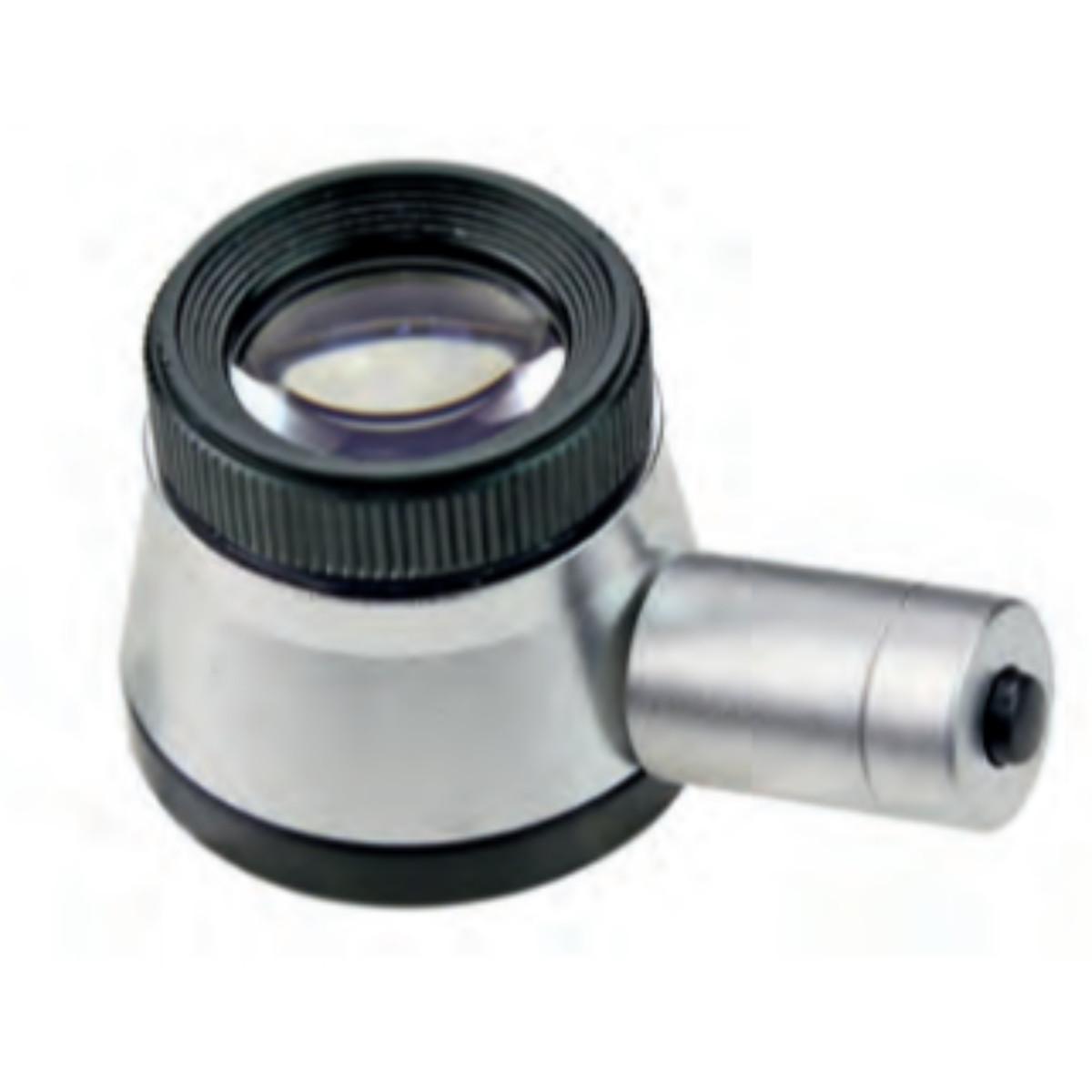 MIB præsions lup med LED lys og skala 6X forstørrelse, aflæsning 0,1 mm