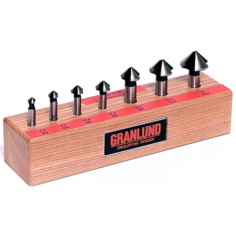 Granlund forsænkersæt HSS 3-skærs 90°  6,3-25 mm