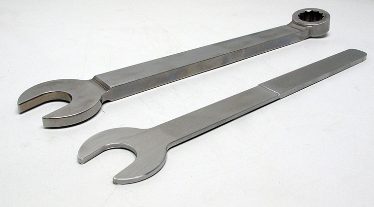 Rustfri ring-gaffelnøgle, slank 11mm - 24mm