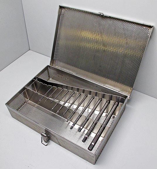 Bakke til sterilisation af unbrakonøgler 200 x 450 x 75 mm. 304 Rustfri stål