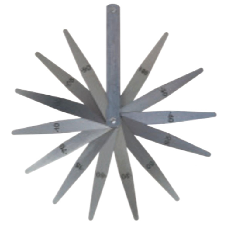M&W søgerstål i sæt 0,05-1,00 mm, 13 blade Længde 100 mm