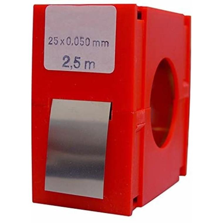 VOGEL rustfrit søgerstål i ruller 25x2500 mm, 0,01-0,50 mm