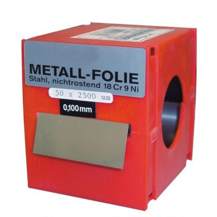 VOGEL rustfrit søgerstål i ruller 50x2500 mm, 0,01-0,50 mm