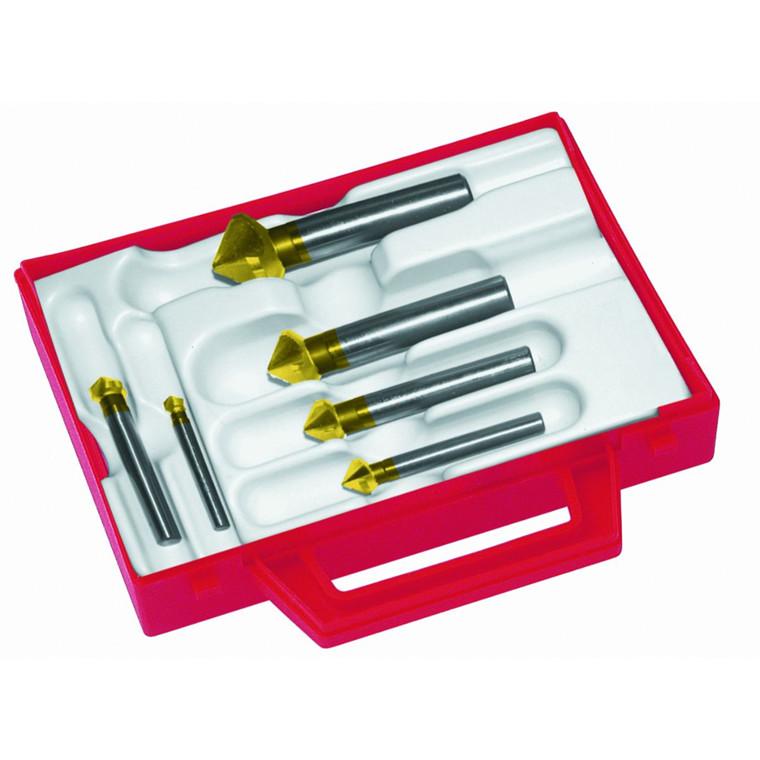 Magafor forsænkersæt 4831 TiN 90° HSS-E, TiN-belagt  Ø10,4-16,5-20,5-25 og 31mm
