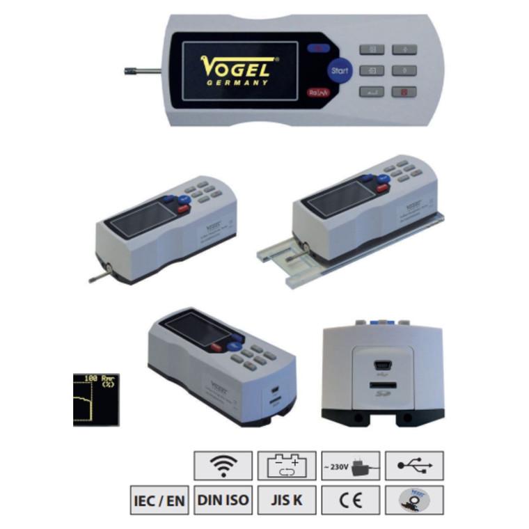Vogel digital ruhedstester med LCD display Ra: 0,005-16 / RZ: 0,02-160