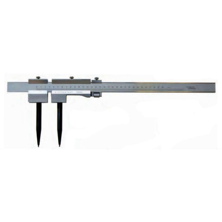 MIB stangpasser m/nonius 1000 mm m/finindstilling aflæsning 0,05 mm flad lineal