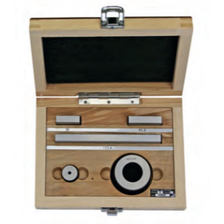 MIB  måleklodser i sæt til kontrol af  skydelærer Gr.1 - 30/41,3/131,4 mm, ringe Ø4+25mm