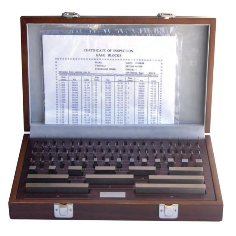 MIB måleklodser stål i grad 0 -1 -2. Sæt med 8/32/47/87/112/122 stk.