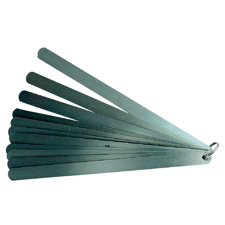 MIB søgerstål i sæt 8 blade 0,05-0,50 mm, længder 150-1000 mm