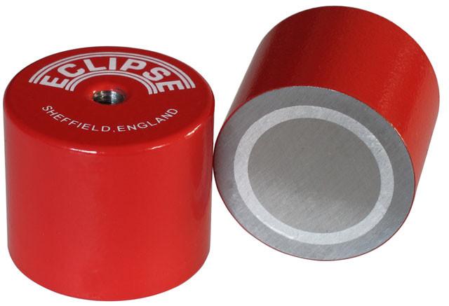 Høje Pottemagneter røde Ø9,5 - Ø35 mm AlNiCo