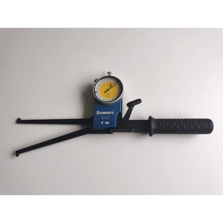 BOWERS Hulmåler 22-72 mm analog med lange ben 125 mm