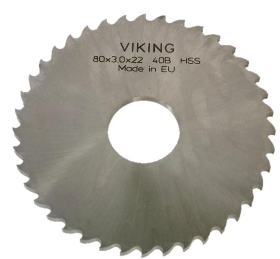 VIKING HSS Rundsavblade/Kærvfræsere DIN1838 B - Grovtandet - Ø50 - 315 mm
