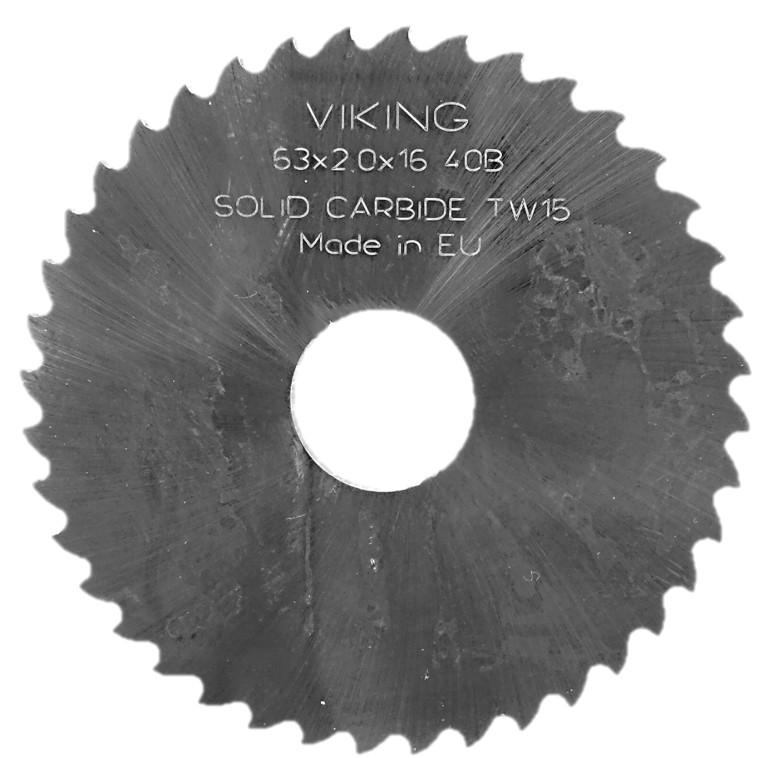 VIKING HM Rundsavblade/Kærvfræsere DIN 1838 B - Grovtandet - Ø50-80 mm