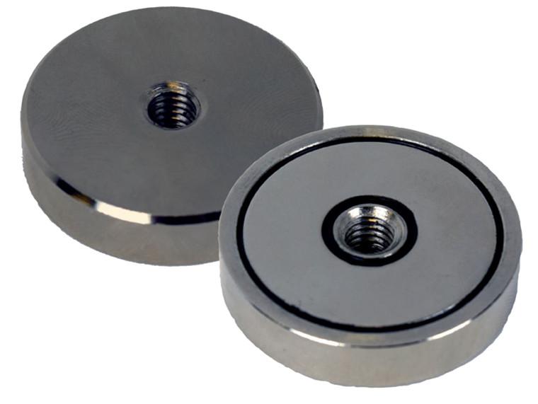 Lave pottemagneter med indvendigt gevind Ø10 - Ø40 mm Neodymium