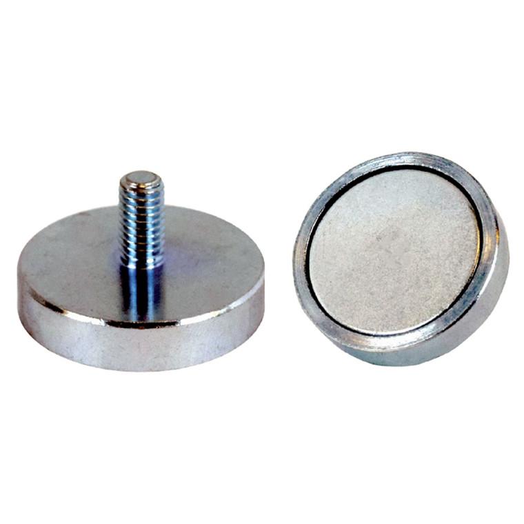 Lave pottemagneter med udvendigt gevind Ø10 - Ø40 mm Neodymium