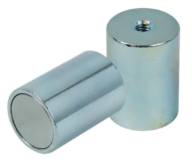 Eclipse Neodymium N35 Høje pottemagneter i stålkappe Ø6 - Ø32 mm