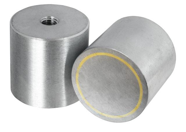 Høje Pottemagneter m/indv gevind forzinket  Ø6 - Ø45 mm AlNiCo
