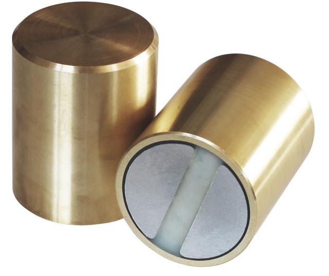 Høje messing to-polede magneter Ø6 - Ø32 mm Neodymium H6 Tolerance