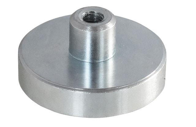 Lave pottemagneter forzinket m/gevindbøsning Ø6 - Ø32 mm Neodymium