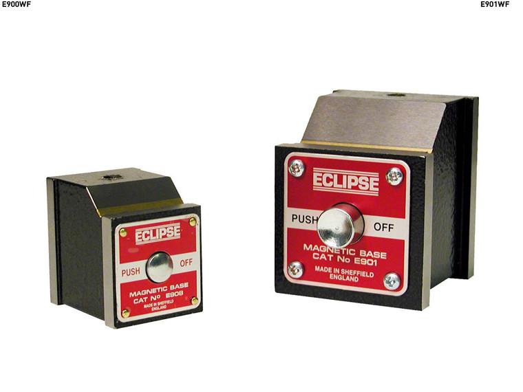 Magnetbaser med ON / OFF trykknap   Trækkraft 30 - 80 kg