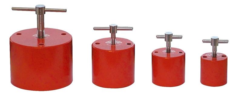 Magnetiske ankre med skruehåndtagsaktivering af magnet Trækkraft 20 - 183kg