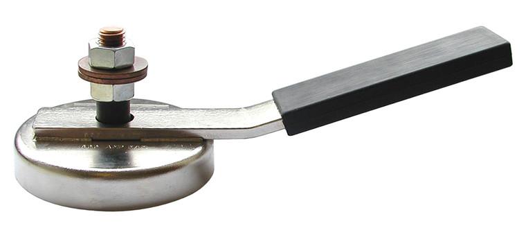 Magnetisk jordet svejseklemme Ø90 mm Trækkraft 25 kg.
