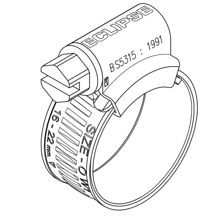 Eclipse spændebånd W1  Indre diameter Ø 9,5 - 280 mm