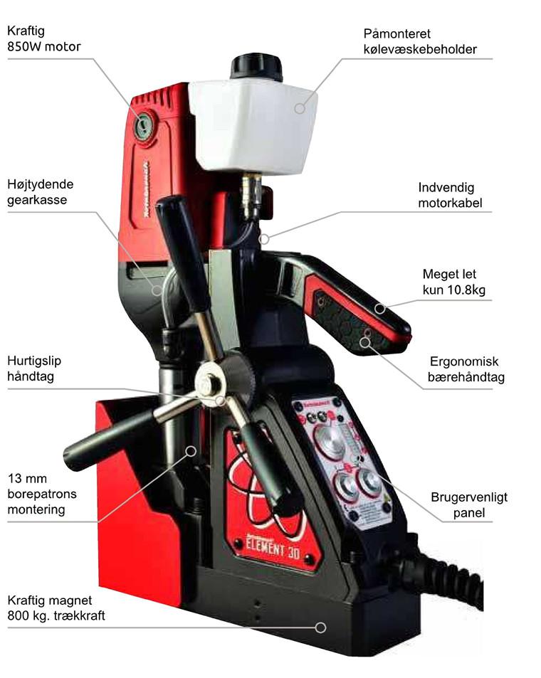 Rotabroach Magnetboremaskine Element E30 Serie nr.: