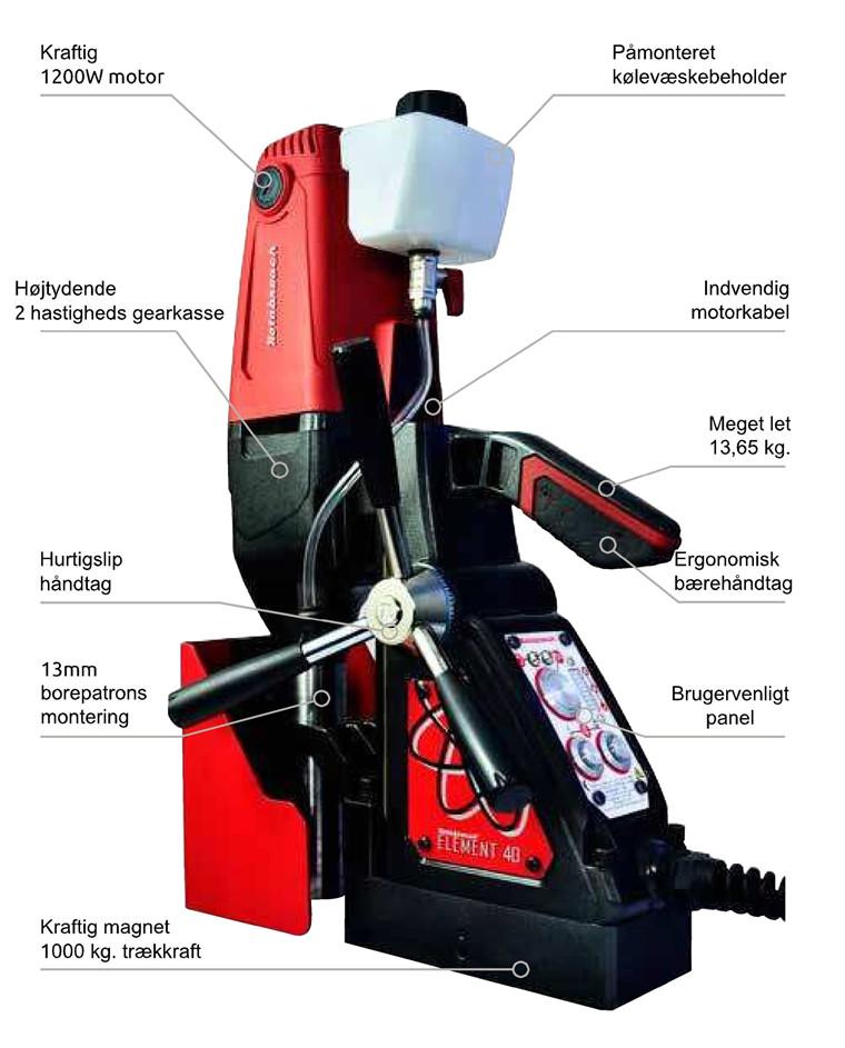 Rotabroach Magnetboremaskine Element E40 Serie nr.: